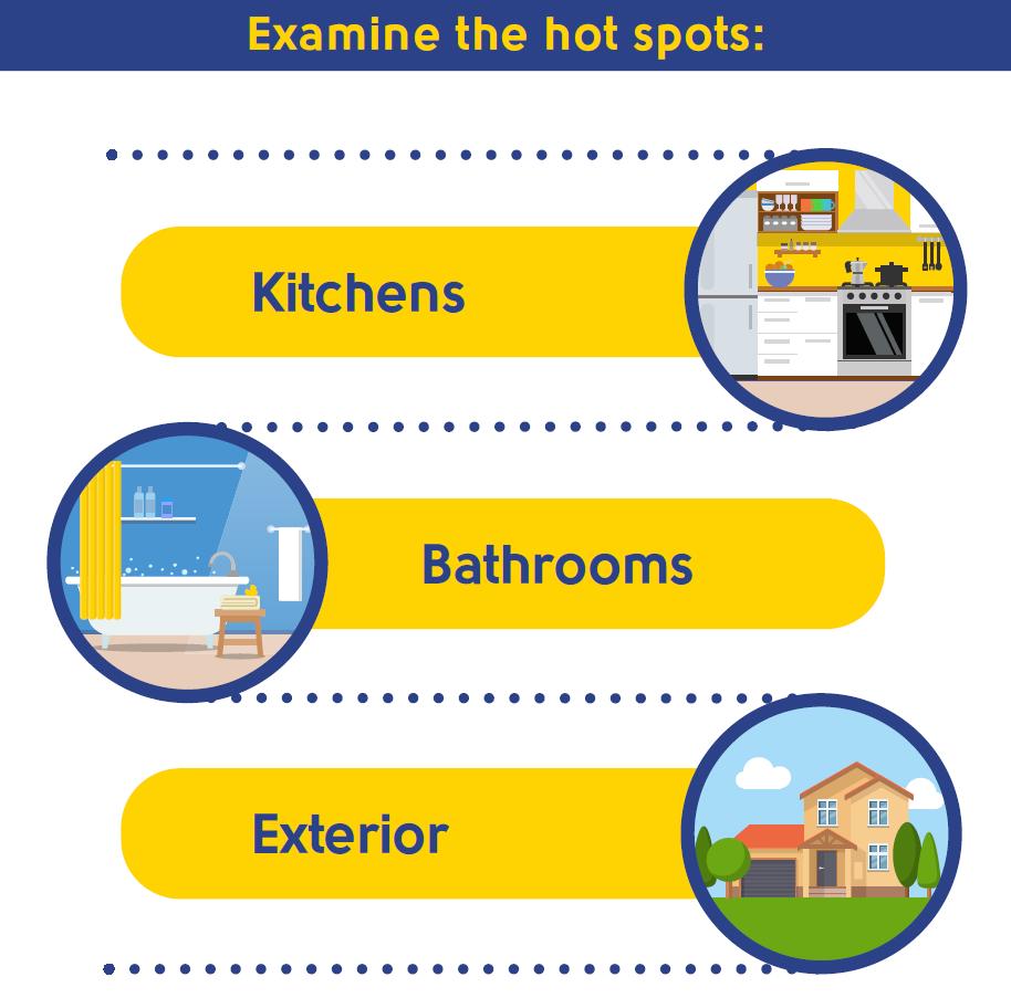 examine the pest hot spots